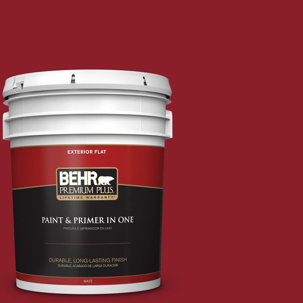 BEHR Premium Plus 5-gal. #ECC-32-3 Cherry Tree Flat Exterior Paint