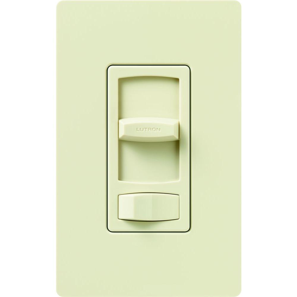 Lutron Skylark Contour 1.5-Amp Single-Pole/3-Way Quiet 3-Speed Slide-to-Off Fan Control - Almond