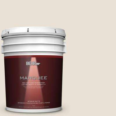 5 gal. #MQ3-13 Crisp Linen Matte One-Coat Hide Interior Paint and Primer in One