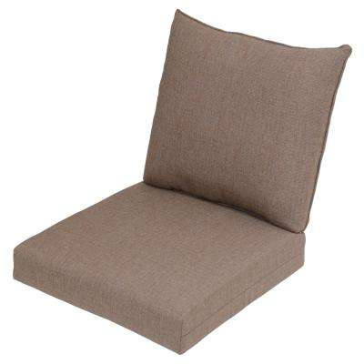 Saddle Texture 2-Piece Deep Seating Outdoor Lounge Chair Cushion