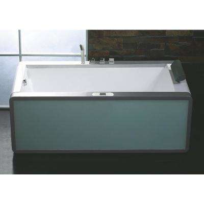 AM151ETL-L 71 in. Acrylic Flatbottom Whirlpool Bathtub in White