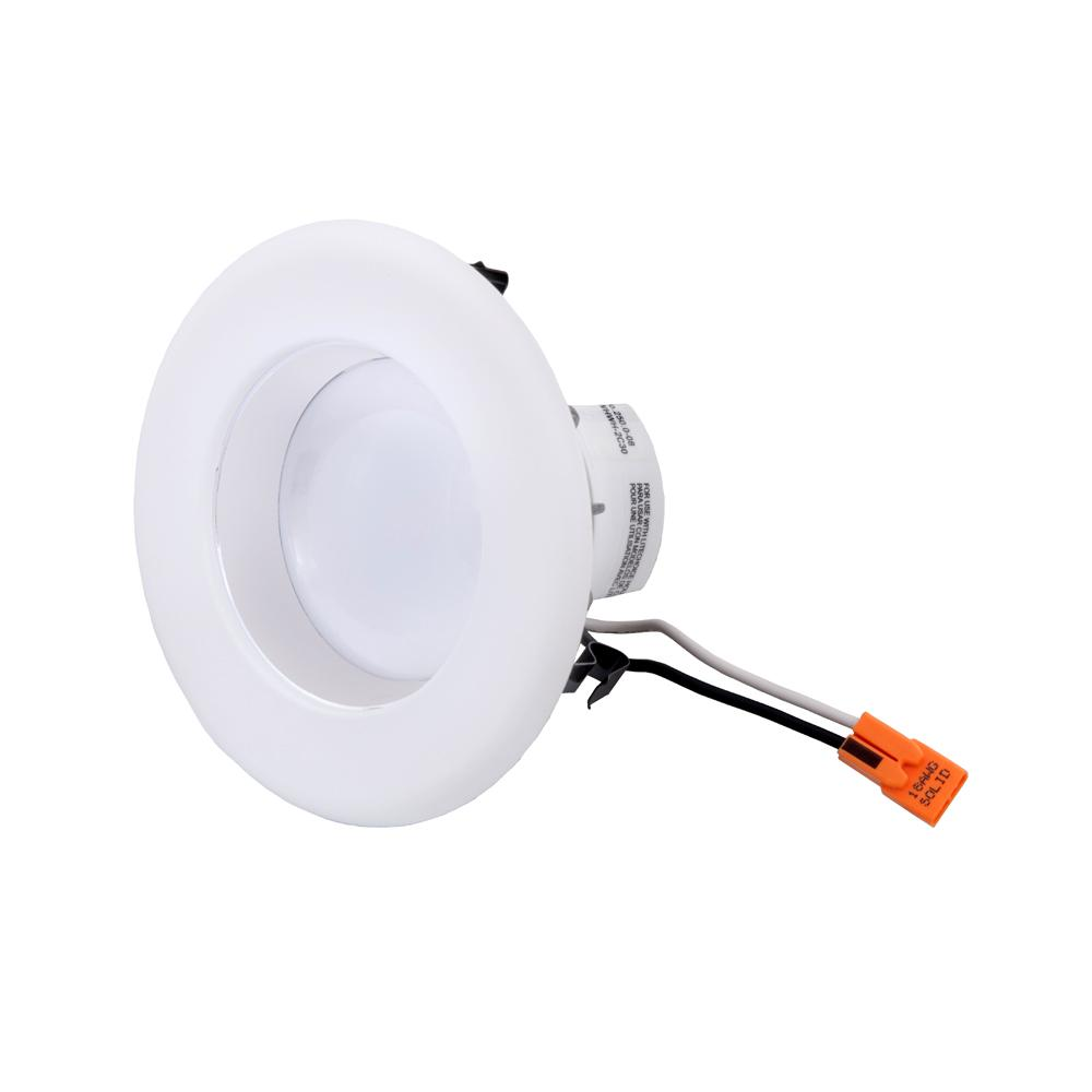 EnviroLite 4 In. White Integrated LED Recessed Ceiling