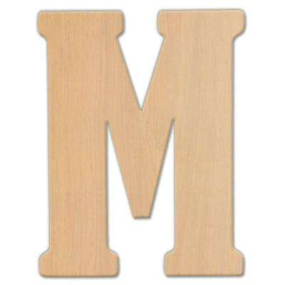 15 in. Oversized Unfinished Wood Letter (M)