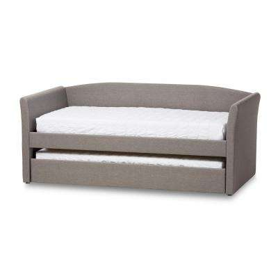 Camino Contemporary Gray Fabric Upholstered Twin Size Daybed
