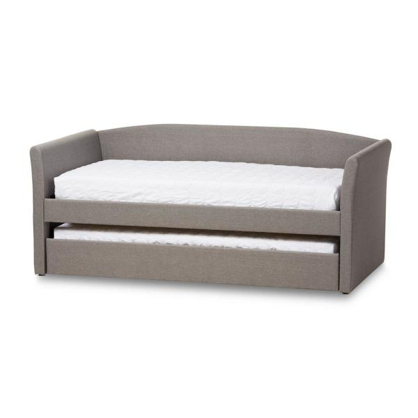Baxton Studio Camino Contemporary Gray Fabric Upholstered Twin Size Daybed
