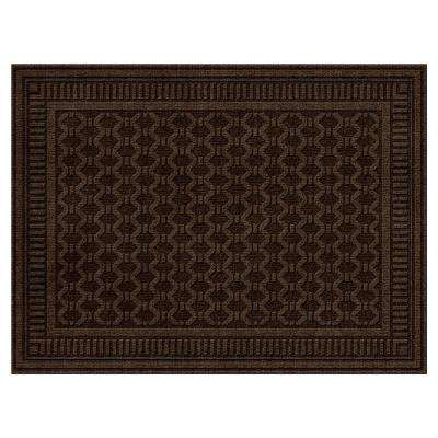 Embossed Mocha 3 ft. x 4 ft. Door Mat