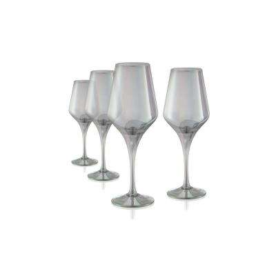 16 oz. 4-Piece Luster Smoke Goblet Set