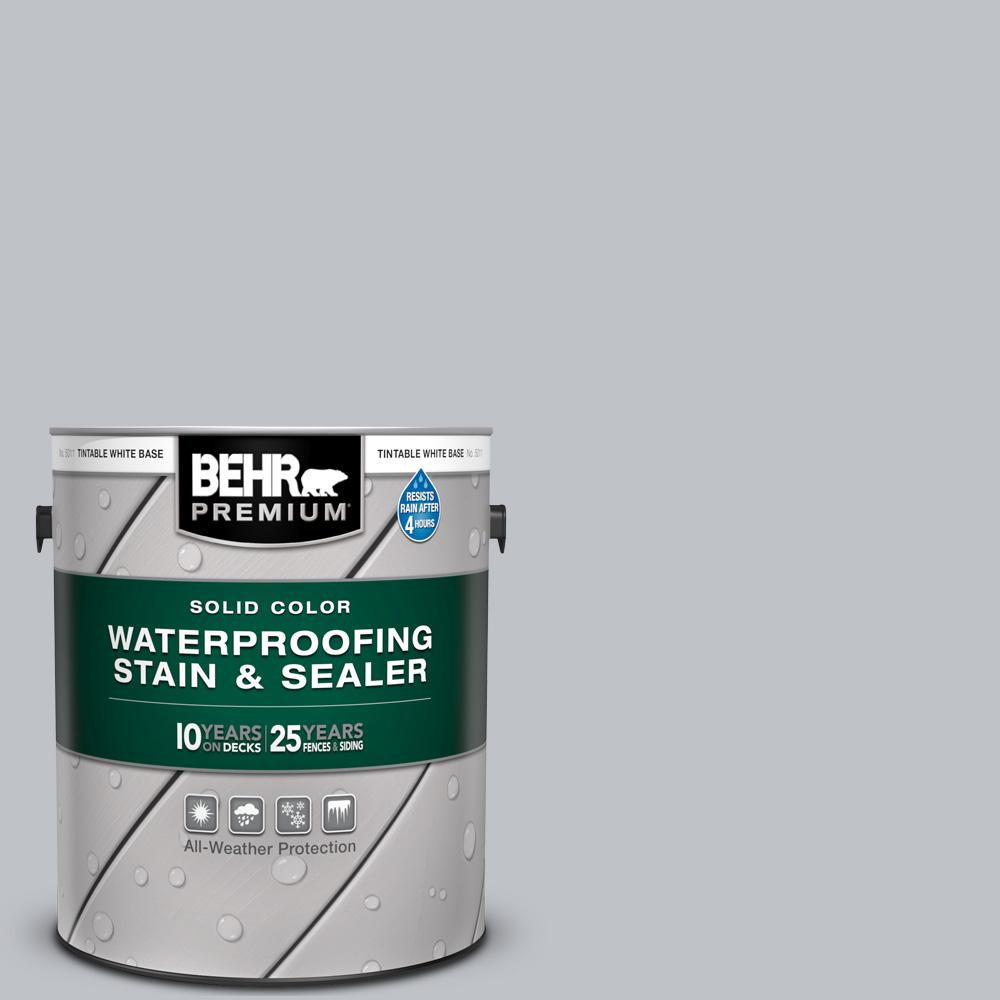 BEHR PREMIUM 1 gal. #N510-2 Galactic Tint Solid Color Waterproofing Exterior Wood Stain and Sealer