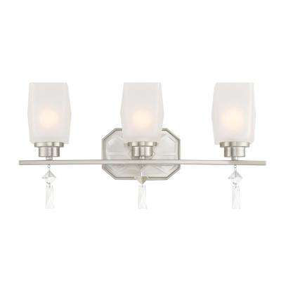 Brentwood 3-Light Satin Platinum Bath Light