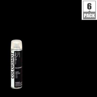 10 oz. Matte Blackout Black General Purpose Aerosol Spray Paint (6 Pack)