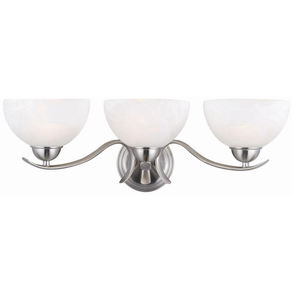 Design House Trevie 3-Light Satin Nickel Sconce