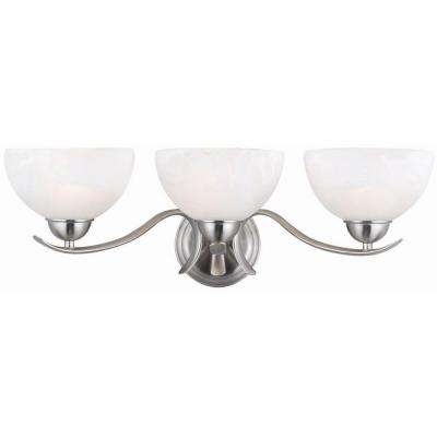 Trevie 3-Light Satin Nickel Sconce