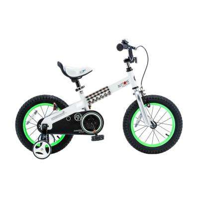 Buttons Kid's Bike, Boy's Bikes and Girl's Bikes with Training Wheels, 12 in. Wheels in Green