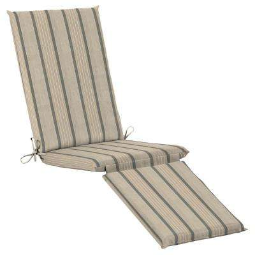19 x 44.5 Sunbrella Cove Pebble Outdoor Chaise Lounge Cushion