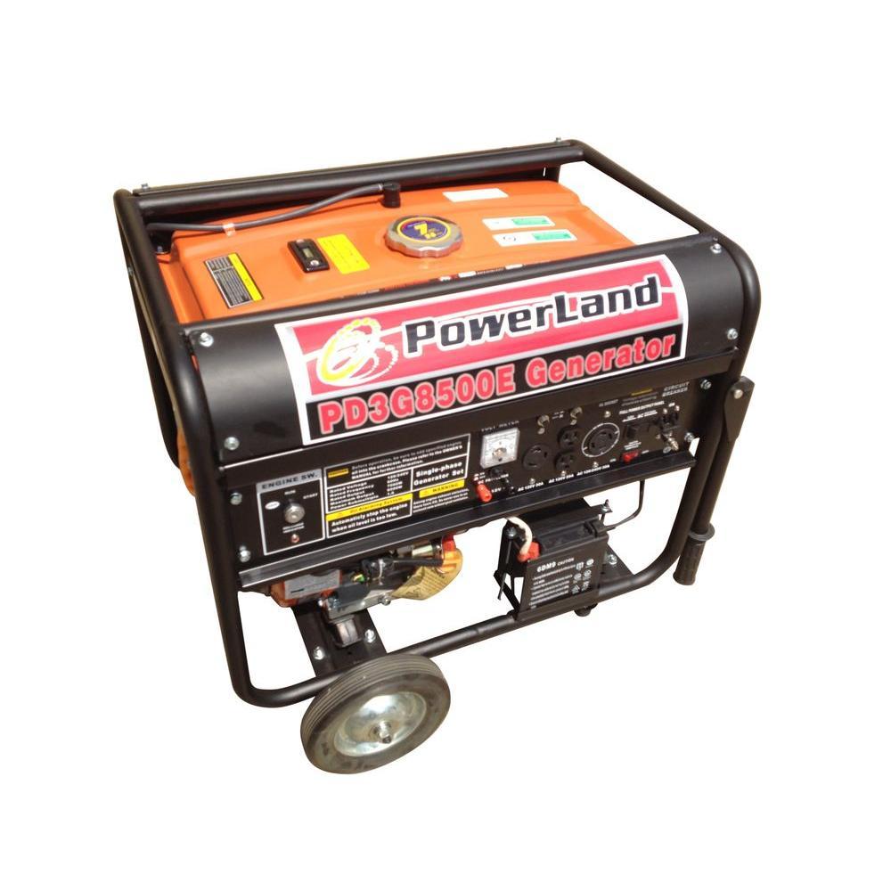 Powerland 8,500-Watt Tri-Fuel Gas LPG and NG Gasoline Generator
