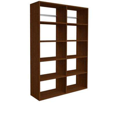 72 in. H x 50 in. W x 14 in. D Cognac Cherry Garage Shelf Storage Kit