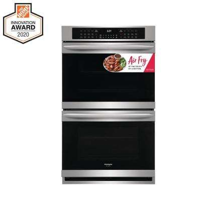 30 in. Double Electric Wall Oven with Air Fry Technology and Self-Cleaning in Stainless Steel