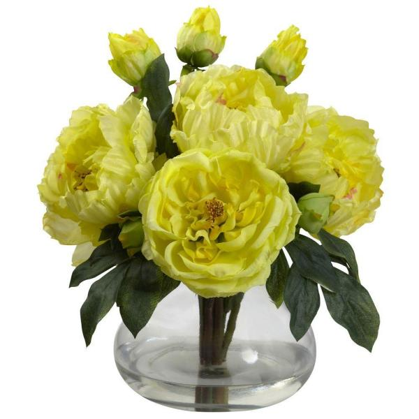 Peony and Rose with Vase