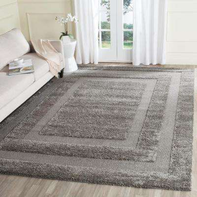 Florida Shag Gray 5 ft. 3 in. x 7 ft. 6 in. Area Rug