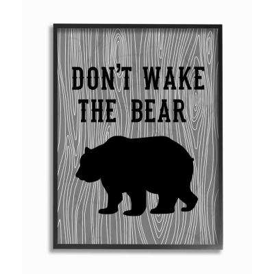 "16 in. x 20 in. ""Don't Wake The Bear"" by Tara Moss Printed Framed Wall Art"