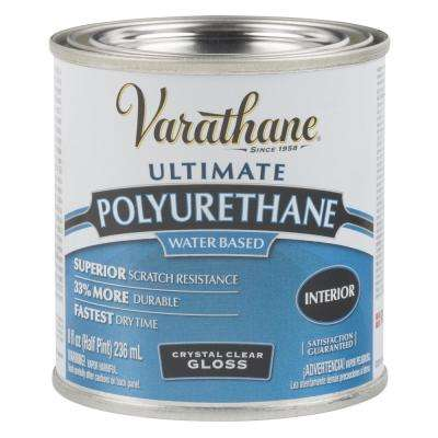 8 oz. Clear Gloss Water-Based Interior Polyurethane (4-Pack)
