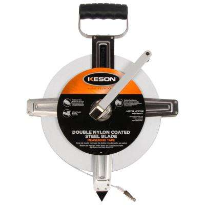300 ft. Steel Open Reel Tape Measure, Stainless Steel Housing, 10ths