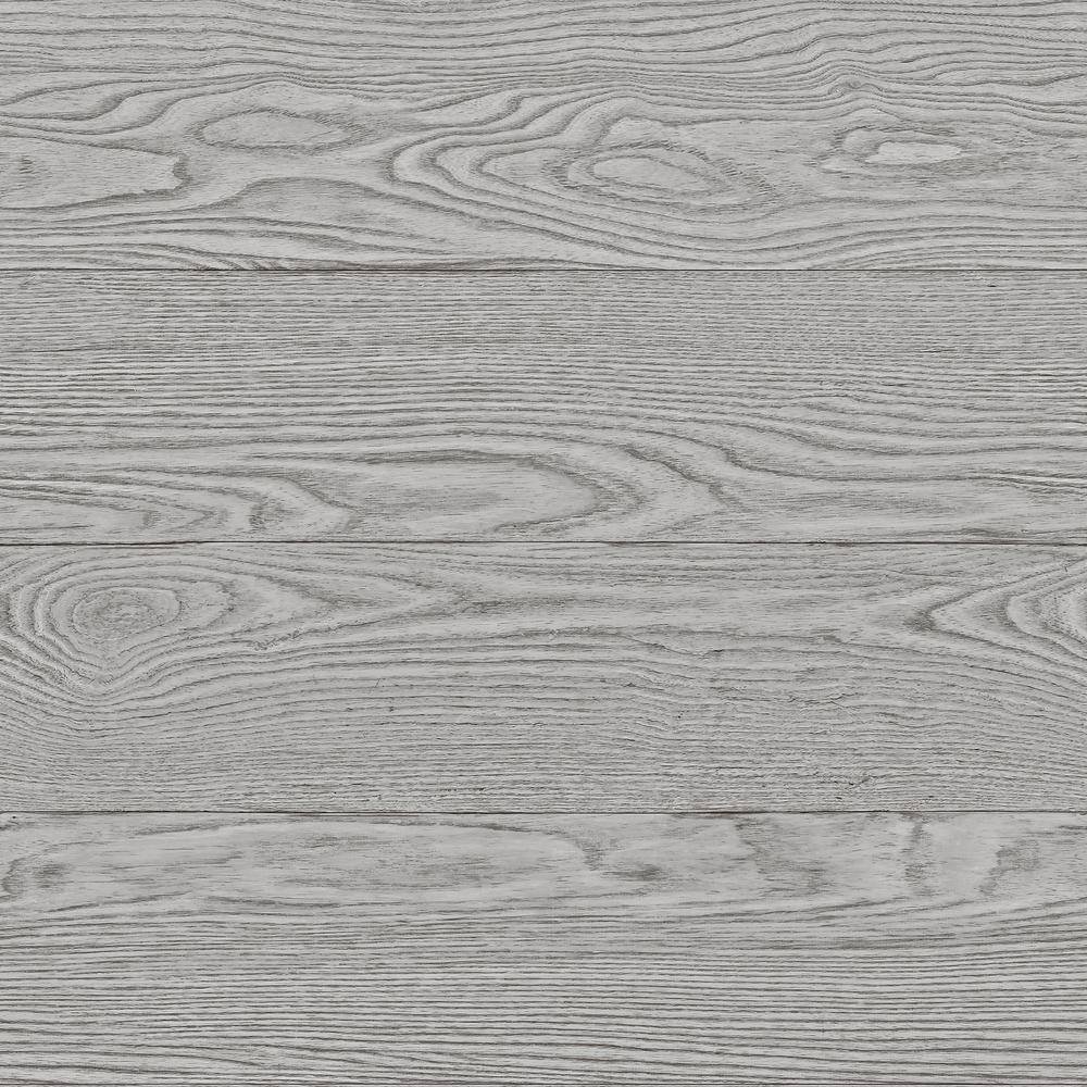 30 8 Sq Ft Grey Salvaged Wood Peel And Stick Wallpaper