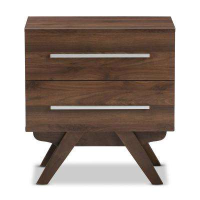 Auburn 2-Drawer Brown Nightstand