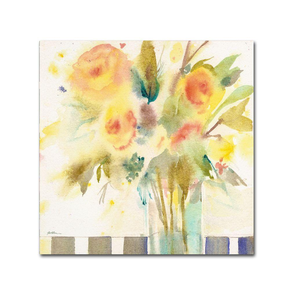 14 in. x 14 in. The Striped Table Canvas Art
