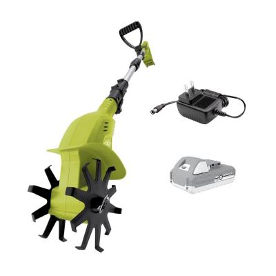 4.25 in. 24-Volt Cordless Electric Garden Tiller/Cultivator Kit with 2.0 Ah Battery + Charger