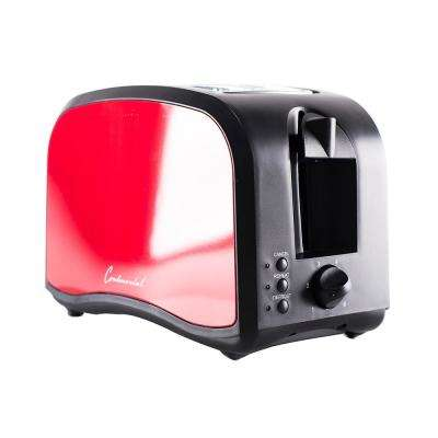 2-Slice Metallic Red Cool Touch Toaster