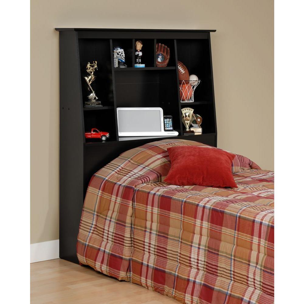 Prepac Black Twin Headboard Sonoma Image