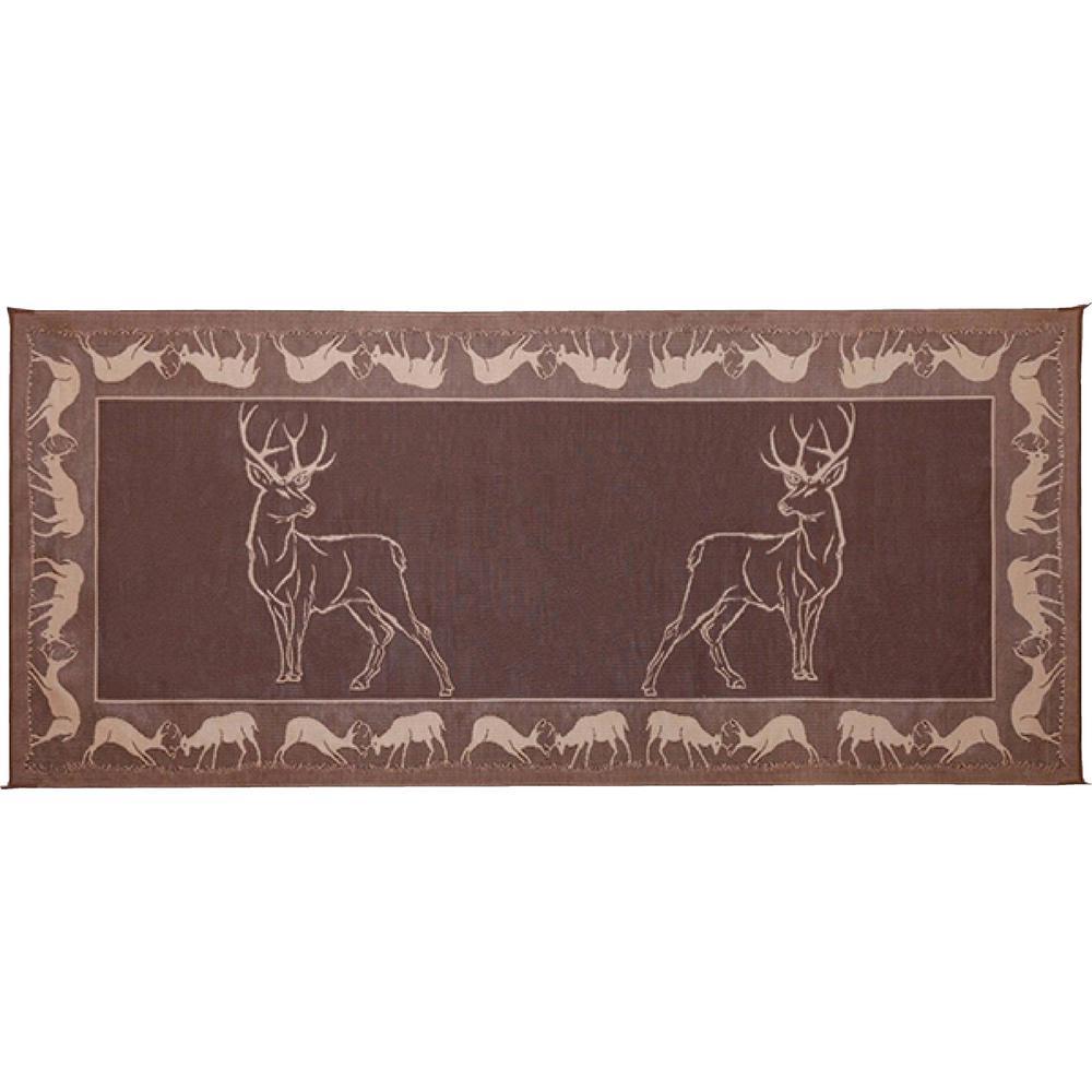 8 ft. x 18 ft. Deer Brown/Beige Reversible Mat