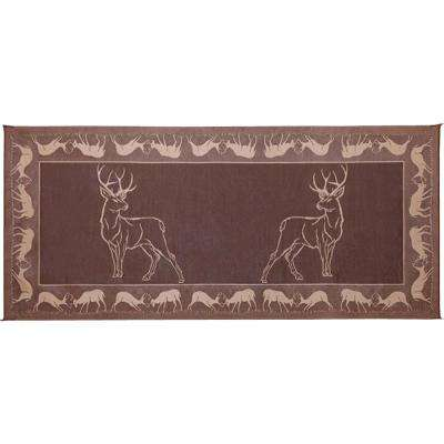 8 ft. x 18 ft. Deer Brown/Beige Reversible Mat