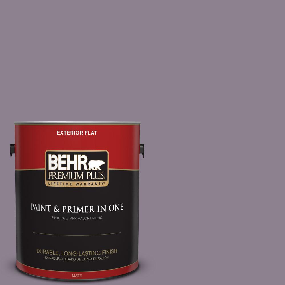 BEHR Premium Plus 1-gal. #670F-5 Gothic Amethyst Flat Exterior Paint