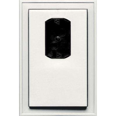 8.125 in. x 12 in. #123 White Jumbo Electrical Mounting Block Offset