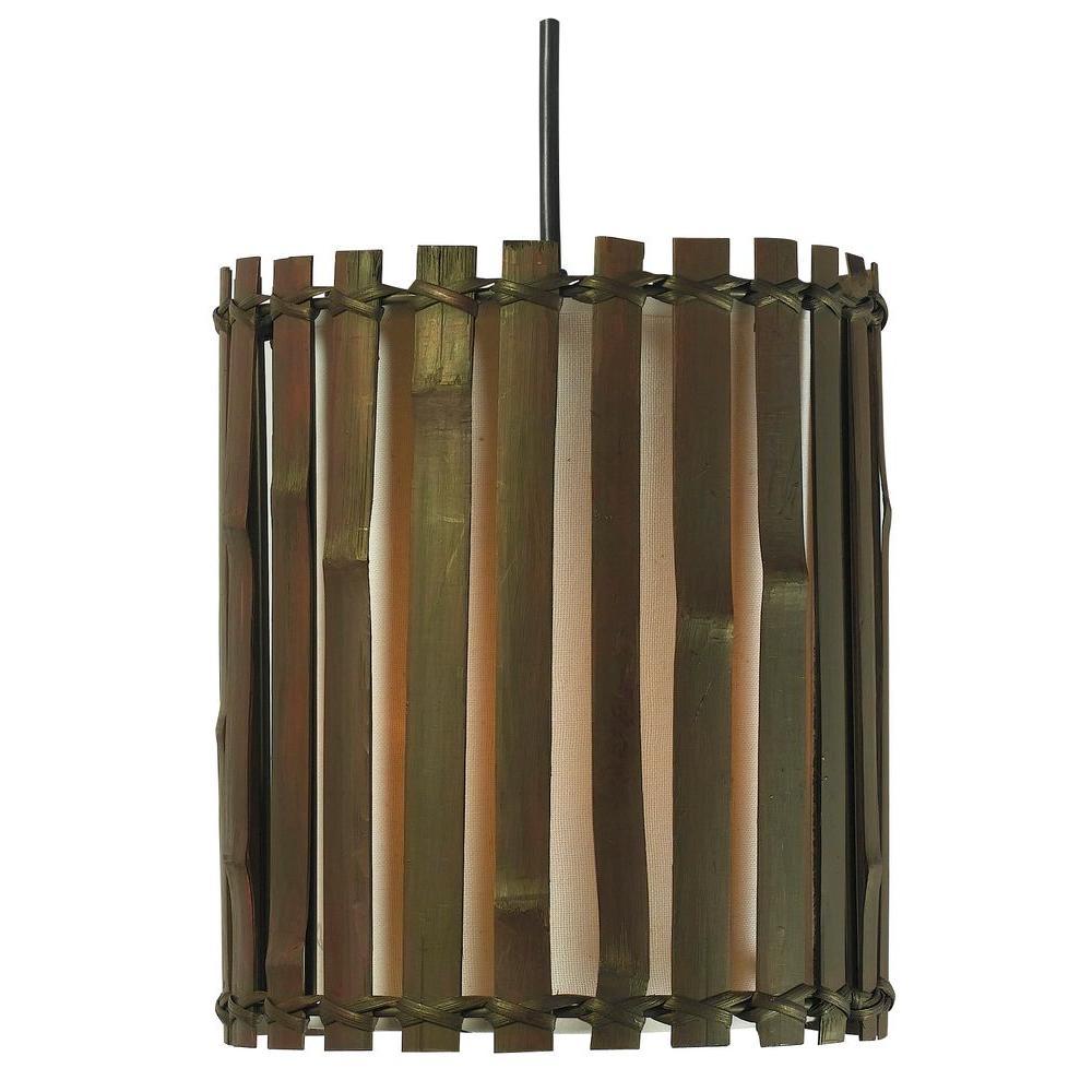 Kenroy Home Grove Max Dark Split Bamboo Mini Pendant