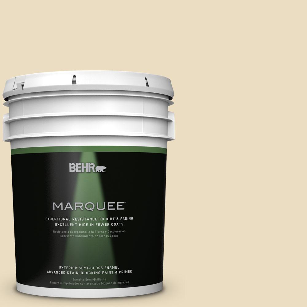 BEHR MARQUEE 5-gal. #ECC-23-1 Golden Haystack Semi-Gloss Enamel Exterior Paint