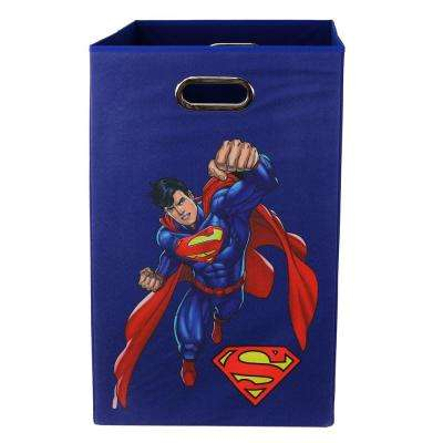 Superman Blue Folding Laundry Basket