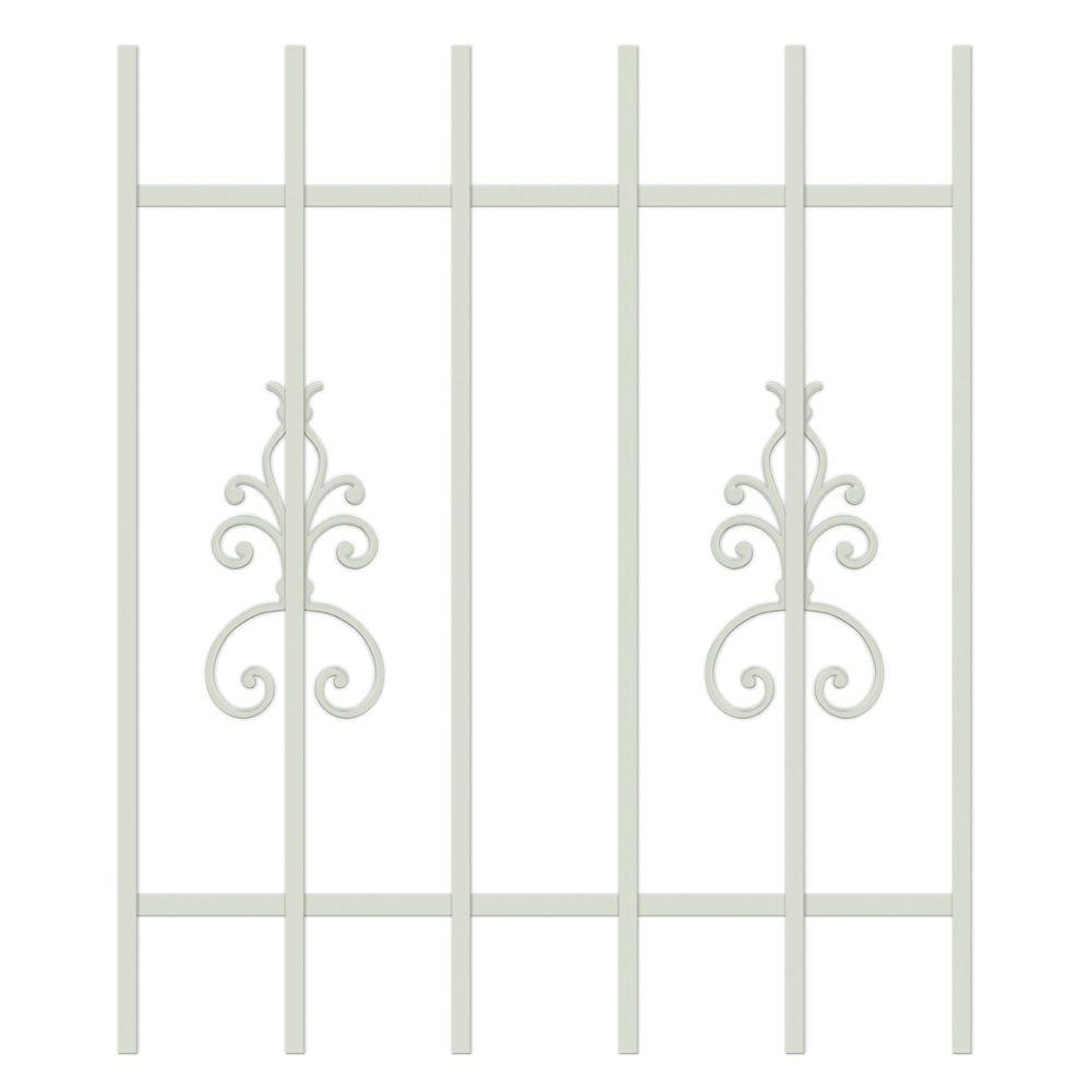 Unique Home Designs El Dorado 30 in. x 36 in. Almond 6-Bar Window Guard-DISCONTINUED