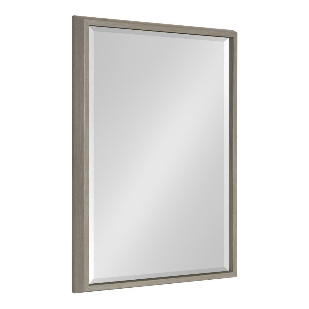Kate and Laurel Blake Rectangle Gray Wall Mirror 214046