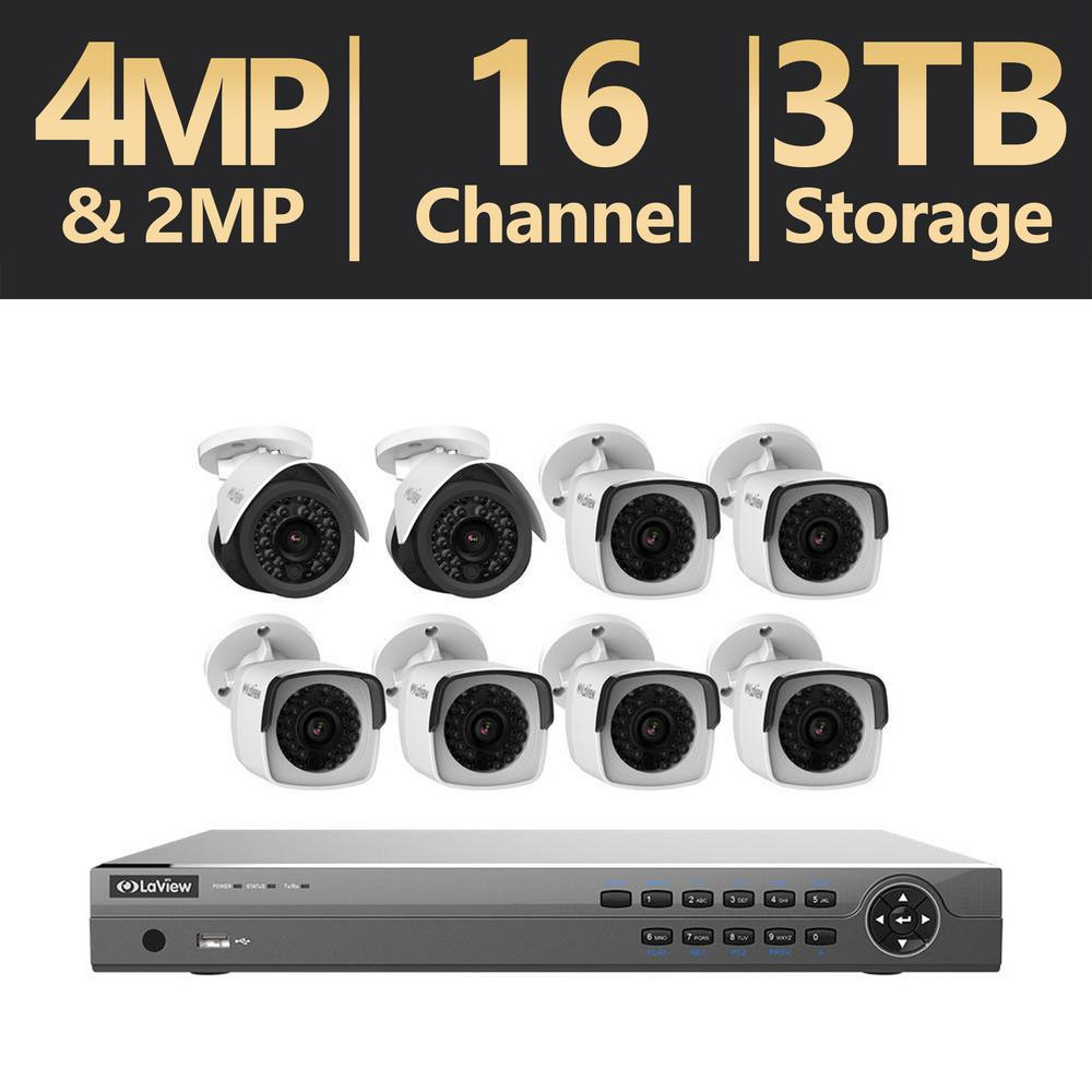 16-Channel Full HD IP 3TB NVR Security System (6) 4MP Bullet