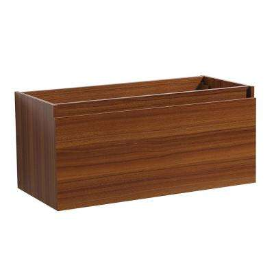 Mezzo 40 in. Bathroom Vanity Cabinet Only in Teak