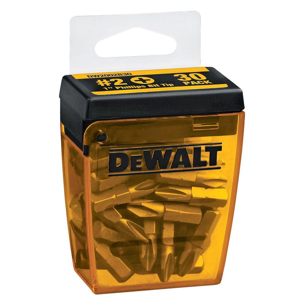 DEWALT No.2 Philips 1 in. Screwdriver Bit Tips (30-Pack)