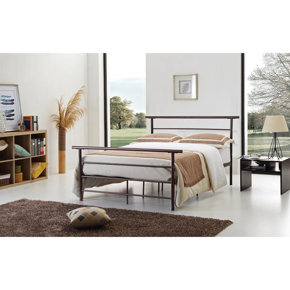 Hodedah Bronze Queen Bed Frame