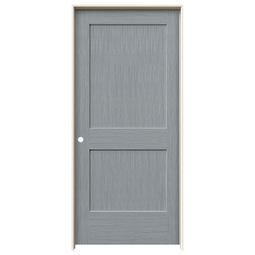 Monroe Stone Stain Right-Hand  sc 1 st  The Home Depot & JELD-WEN 36 in. x 80 in. Monroe Stone Stain Right-Hand Solid Core ...
