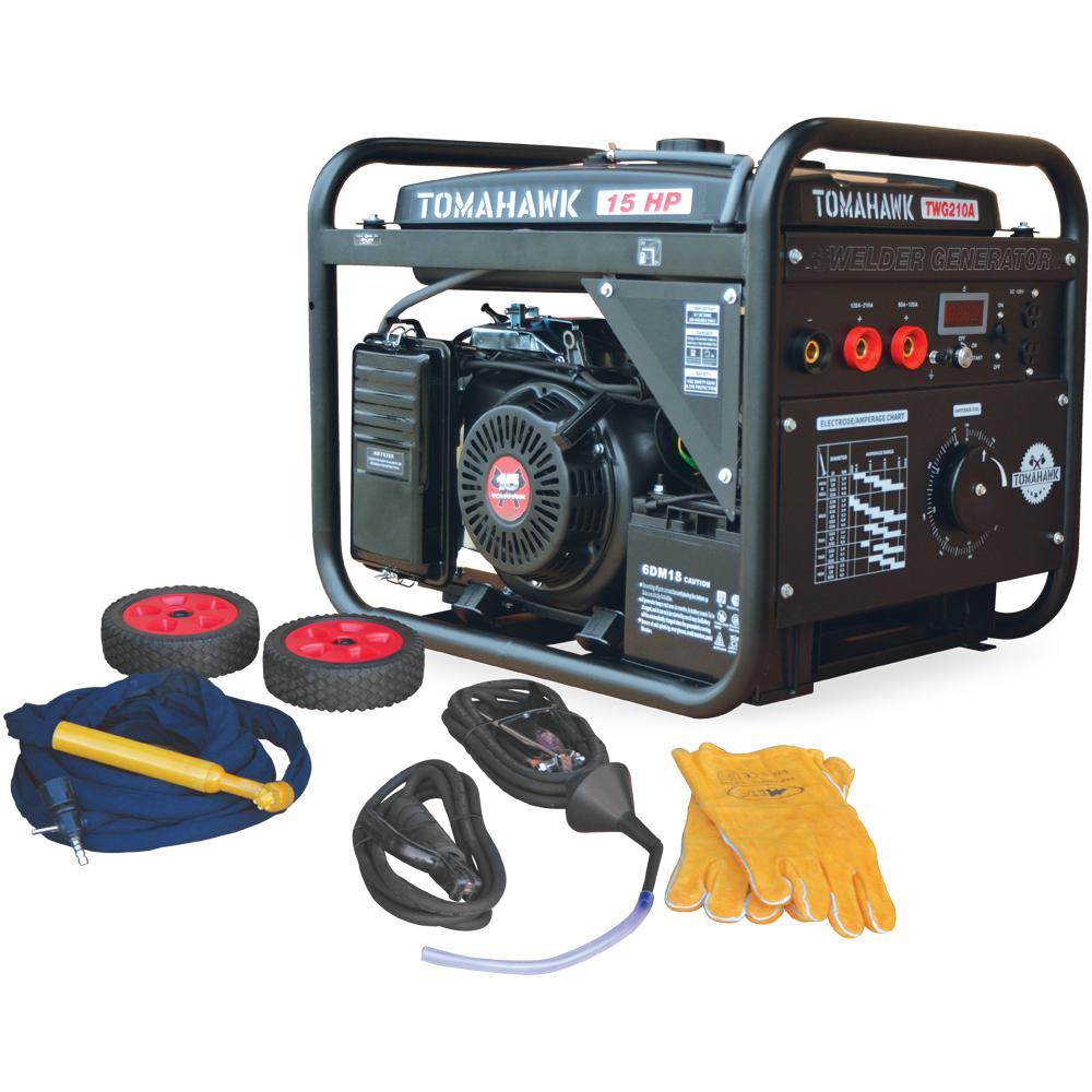 Tomahawk 210 Amp DC Arc/Stick Welder Generator with 15 HP 2,000-Watt Engine
