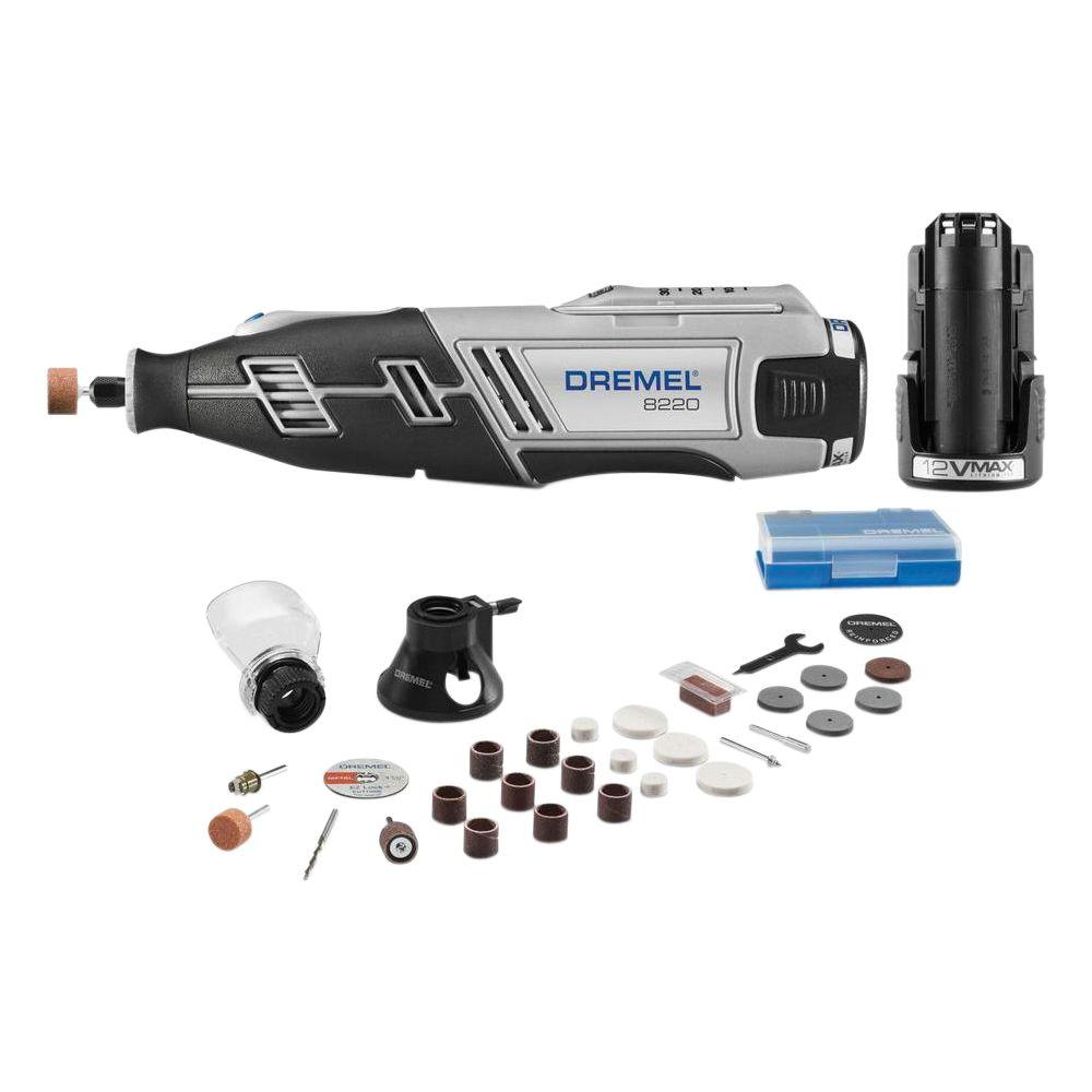 8220 Series 12-Volt MAX Lithium-Ion Variable Speed Cordless Rotary Tool Kit