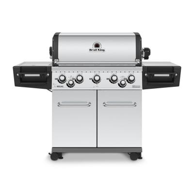 Regal S590 PRO IR 5-Burner Propane Gas Grill in Stainless Steel with Infrared Side Burner and Rear Rotisserie Burner