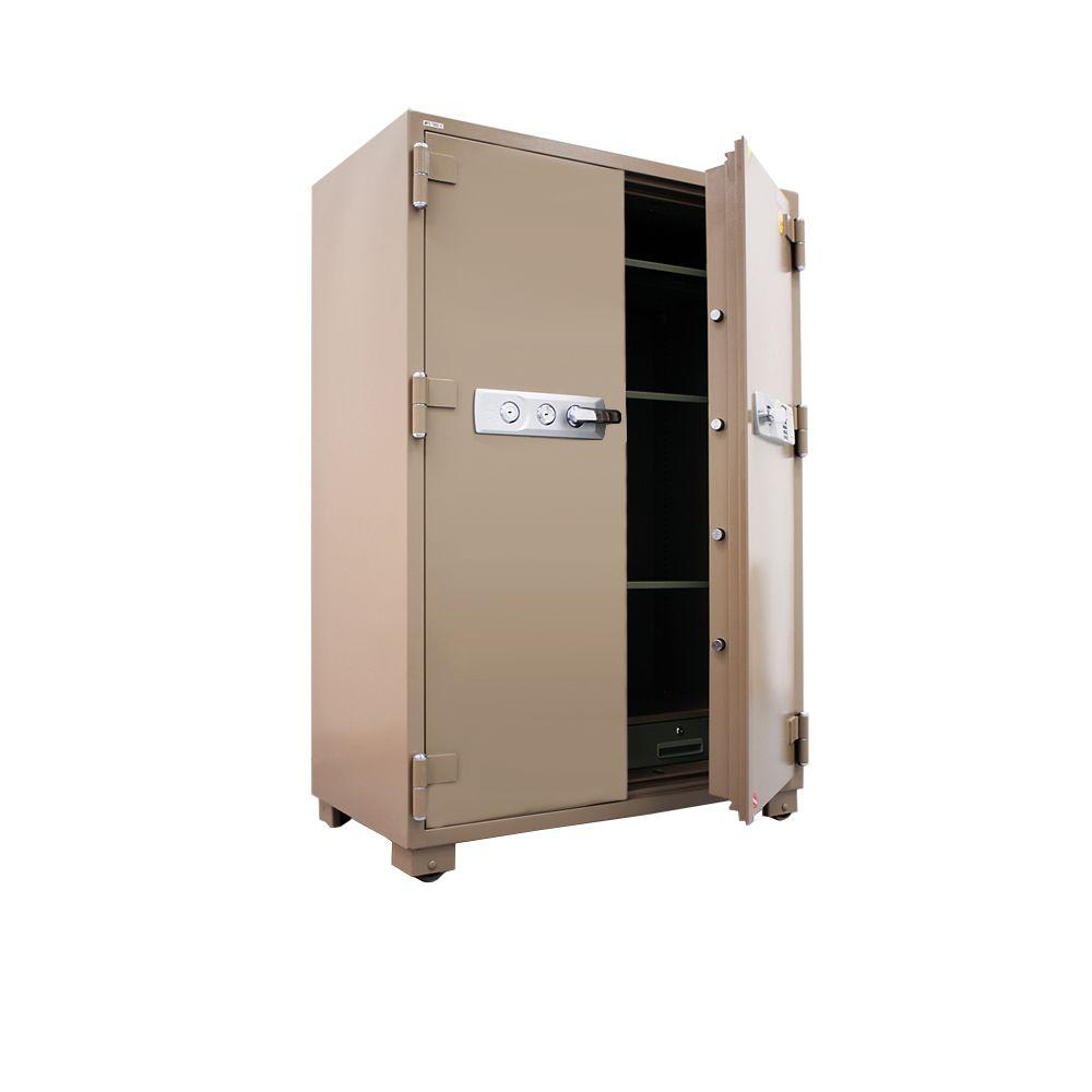 MESA 20.7 cu. ft. All Steel Electronic Lock 2 Hour Fire Safe with Double Doors, Tan